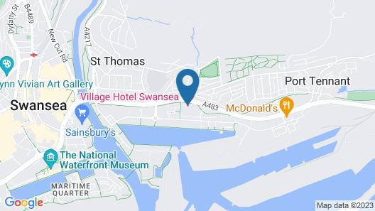 Village Hotel Swansea Map