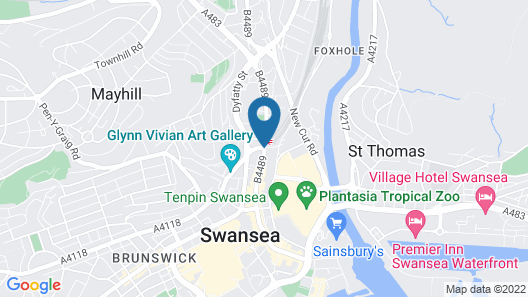 The Grand Hotel Swansea Map