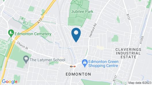 North London Apartment - Edmonton Map