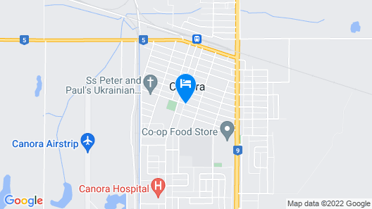 Canora Home Rentals Vacation Cottage Map