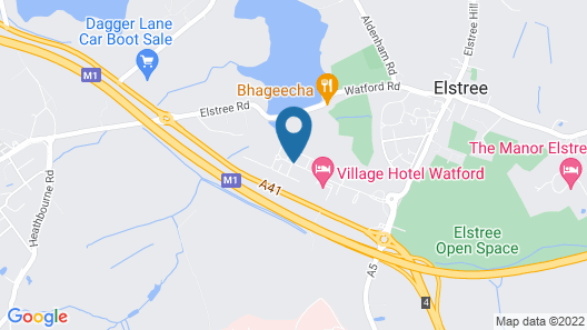 Village Hotel London Watford Map