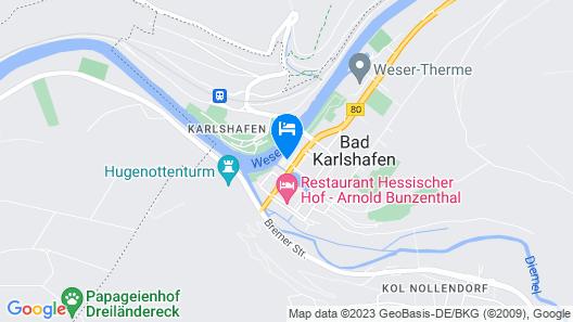 Hotel Zum Weserdampfschiff Map
