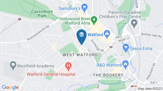 Watford General Suites Map