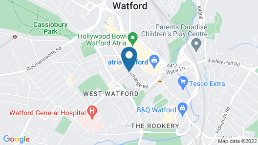 Immaculate 1-bed Apartment in Watford Map