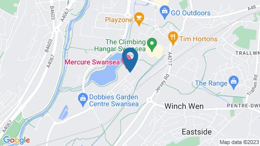 Mercure Swansea Hotel Map