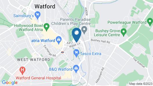 Premier Travel Inn Watford Centre Map