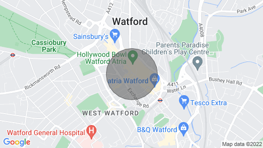 F5 Watford Central Serviced Apt 20% 0ff Monthly Map