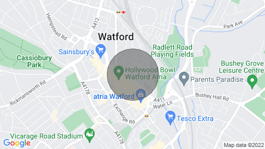 Two bed apartment in the heart of Watford Map