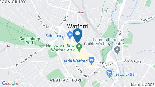 Jurys Inn London Watford Map