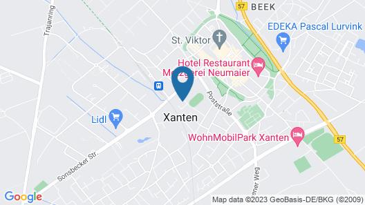 Ferienwohnung Roemerhaus Xanten Map