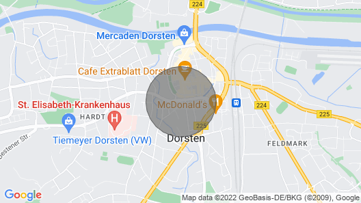 Small Apartment on the Ground Floor in a Central Location in Dorsten Map