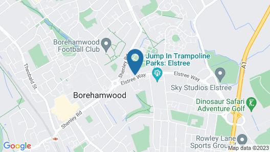 ibis London Elstree Borehamwood Map