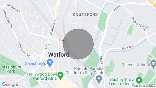 1 Bed by Modernview Serviced Accommodation Watford Map