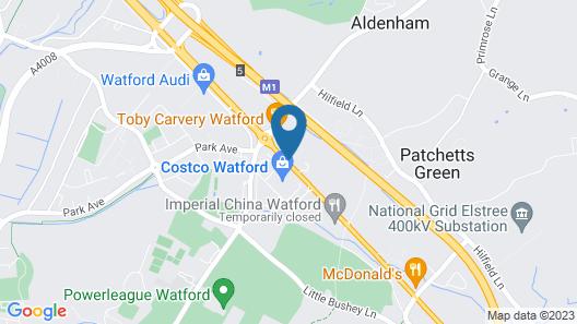 Hilton London Watford Map