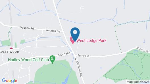 West Lodge Park Hotel Map