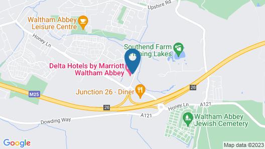 Waltham Abbey Marriott Hotel Map