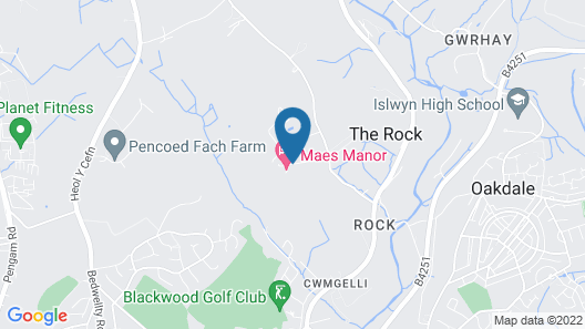 Maes Manor Hotel Map