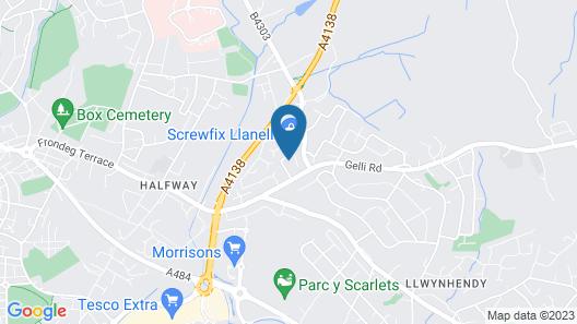 Sessile Oak, Llanelli by Marston's Inns Map