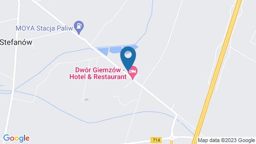Autostrada A1 Hotel - Dwór Giemzów Map
