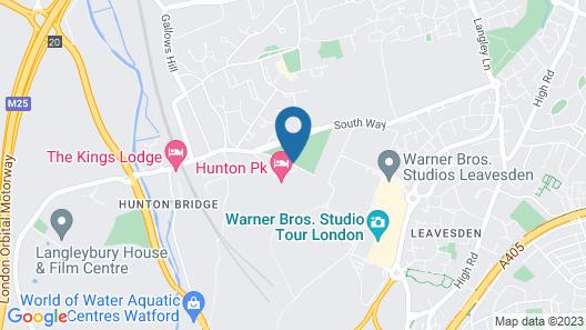Mercure London North Watford Hunton Park Hotel Map