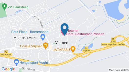 Fletcher Hotel-Restaurant Prinsen Map