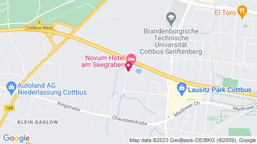 Novum Hotel Seegraben Cottbus Map