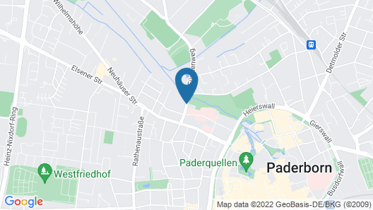 Welcome Hotel Paderborn Map