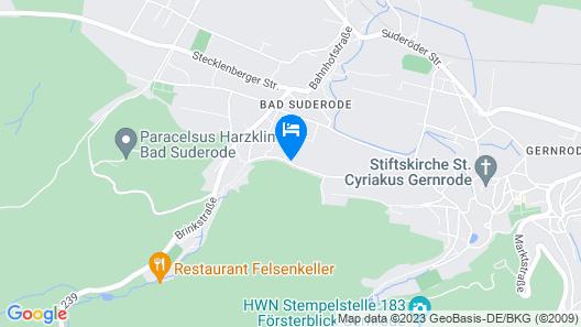 Le petit Palais – Hotel & Ferienapartments Map