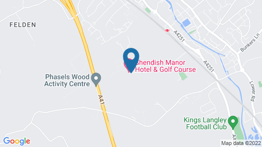 Shendish Manor Hotel & Golf Course Map