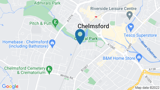 Stunning 2-bed Apartment With Parking Chelmsford Map