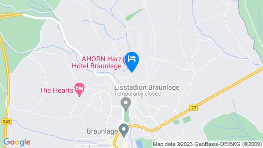 AHORN Harz Hotel Braunlage Map