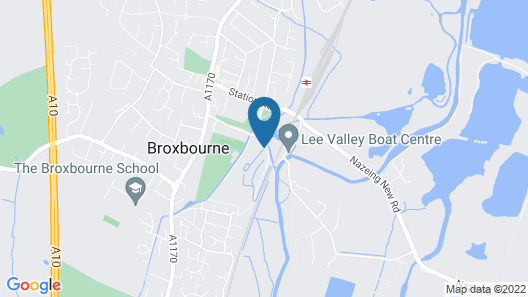Broxbourne Riverside Chalets Map