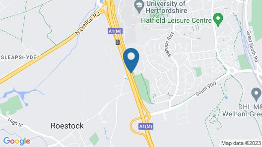 Mercure Hatfield Oak Map