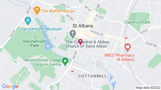Clarion Collection Hotel St Albans City Centre Map