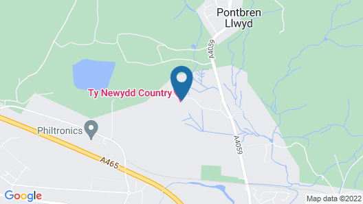 Ty Newydd Country Hotel Map