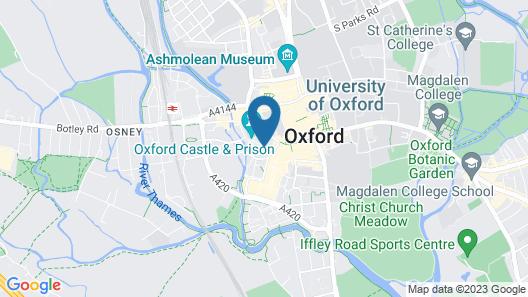 Oxford Castle View Apartment Map