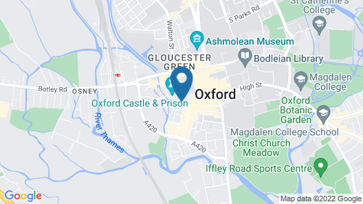 Oxford Serviced Apartments - Castle Map