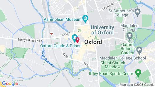 Malmaison Oxford Map