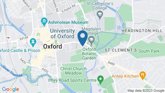 Mercure Oxford Eastgate Hotel Map