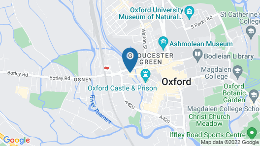 Central Backpackers Oxford Map