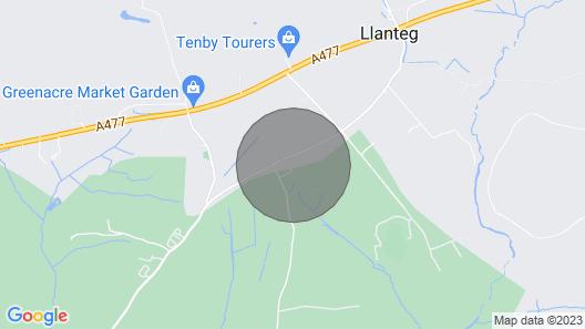 Rowan Lodge, Amroth Map