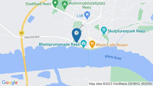 Hotel Rheinpark Rees Map
