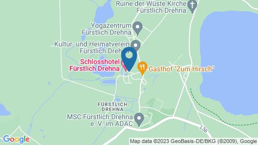 Schlosshotel Fürstlich Drehna Map