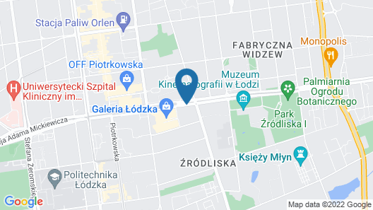 Ambasador Centrum Hotel Lodz Map
