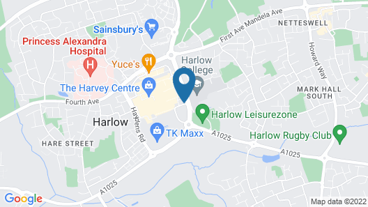 Holiday Inn Express Harlow Map