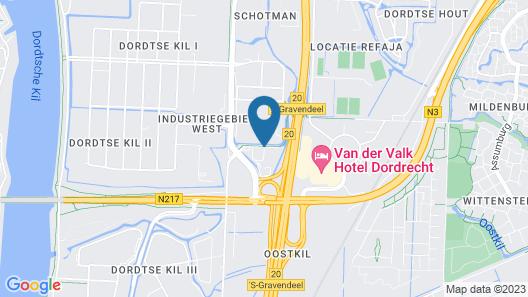 Postillion Hotel Dordrecht Map