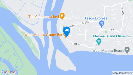 The Victory at Mersea Map
