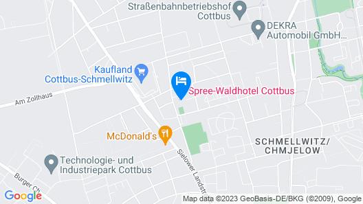 Spree-Waldhotel Cottbus Map