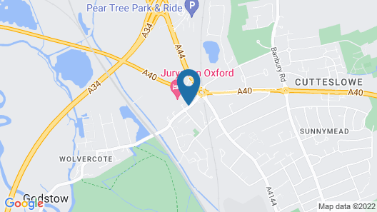 Jurys Inn Oxford Map