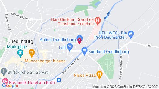 ACRON Hotel Quedlinburg Map